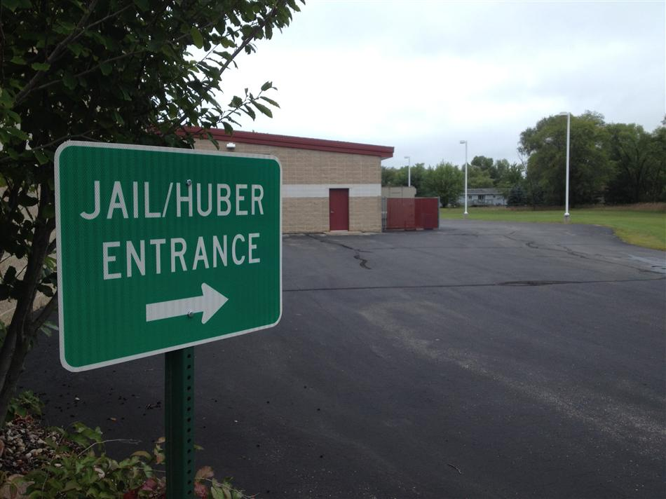 Jail/Huber Entrance Sign - East Side of Building